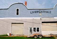 Livery Stable - Morrison, Illinois (Cragin Spring) Tags: illinois il midwest unitedstates usa unitedstatesofamerica smalltown morrison morrisonil morrisonillinois liverystable stable horse building livery
