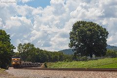 Over Hill (nrvtrains) Tags: shawsville military 052 unionpacific blankenshiprd christiansburgdistrict norfolksouthern load virginia unitedstates us
