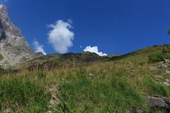 entre les deux nuages un petit papillon blanc (bulbocode909) Tags: valais suisse mex laudemex alpages montagnes nature paysages nuages papillons vert bleu groupenuagesetciel