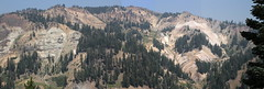 Panorama of some massive cliffs (rozoneill) Tags: lassen volcanic national park peak sulphur works california