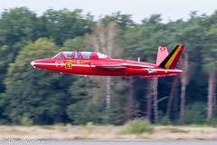CM170R Fouga Magister, N216DM/MT5, België (Alfred Koning) Tags: belgianairforcedays2018 ebblkleinebrogel fougamagistern216dmmt5 gebruiker historischevliegtuigenvliegend locatie vintageflights