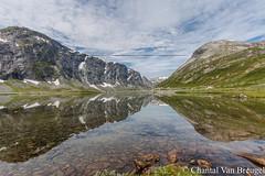 Onderweg in Noorwegen (Chantal van Breugel) Tags: landschap noorwegen reflecties bergen water sneeuw canon5dmark111 canon1635
