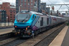 Transpennine Express 68025 (Mike McNiven) Tags: transpennine express manchester internationaldepot longsight deansgate carlisle freightliner drs direct railservices caf mk5a nova3