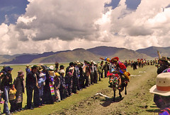 When Tibet was of Tibetans. (2003 slide) (vittorio vida) Tags: tibet asia chiana people tradition culture horse festival races