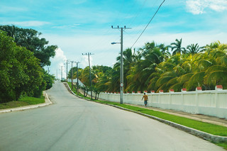 The access road to Punta Brava beach in Caibarien
