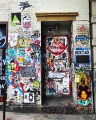 57 Great Jones Street NYC - Former Studio Of Jean Michel Basquiat (Christian Montone) Tags: montone christianmontone manhattan nyc newyork newyorkcity graffiti basquiat streetart urbanart publicart wheatpaste tags posters eastvillage jeanmichelbasquiat