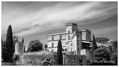 Château de Lourmarin (Vaucluse, Provence, France) (pascalrouthier) Tags: blackandwhite noiretblanc castle château france fuji fujifilm fujifilmxt20 provence vaucluse lourmarin