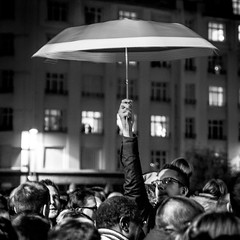 Umbrella (pas le matin) Tags: people crowd gens foule homme man street rue travel voyage world france lille europe europa umbrella parapluie night nuit canon 70 canon7d canoneos7d eos7d