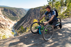 Exploring the Sublime Point Trail with an off-road wheelchair (YellowstoneNPS) Tags: ada grandcanyonoftheyellowstone sublimepointtrail ynp yellowstone yellowstonenationalpark accessibility bearspray offroadwheelchair