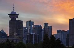 Towers (Clayton Perry Photoworks) Tags: vancouver bc canada summer explorebc explorecanada downtown city skyline buildings sunset harbourcentre