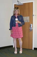 Ralph Lauren Floral (krislagreen) Tags: tg tgirl transgender transvestite cd crossdress dress wedgies patent floraldress jeanjacket femme feminized feminization