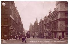 Renfield Street, Glasgow, 1929. (Paris-Roubaix) Tags: glasgow city centre renfield street pavilion theatre tramcar antique postcards scotland vintage scottish