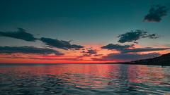 Latitud 40S (emiliokuffer) Tags: sunset atardecer beach playa mar sea sao sur south patagonia argentina lasgrutas clouds cloudy day nublado colores colors color colour colours water horizon sky cielo celeste