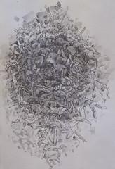 Ordinary Day in Circle (toni belobrajdic) Tags: people texture pencil nude figures figurative