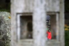 Enlanterned (Elios.k) Tags: horizontal outdoors nopeople stone statue small tradition jizo jizōbosatsu bib red children protection legend buddha japaneseculture japanese kanji dof depthoffield foregroundblur backgroundblur focus shallowdepthoffield bokeh lantern stonelantern toro frame colour color travel travelling vacation canon 5dmkii camera photography december 2017 yamadera temple risshakuji tashoba okunoin shinto tendai buddhism yamagata yamagataprefecture tōhokuregion tohoku honsu asia japan