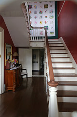 Stair Hall, Scott County Sheriff's Residence — Georgetown, Kentucky (Pythaglio) Tags: georgetown kentucky scottcounty house dwelling residence building structure jail historic nrhp nationalregister 02000923 1892 interior staircase stairway stairs balustrade