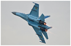 Ukrainian Air Force Sukhoi Su-27P - 58 Blue (Ciaranchef's photography.) Tags: su27 sukhoi riat royalinternationalairtattoo airshow airdisplay russianaircraft russianhardware militaryjets militaryaviation miltaryaircraft russianmilitary nikonaviation nikond7000 tamron150600