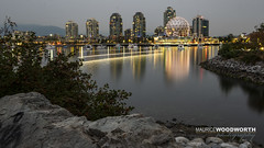 False Creek (Moe W) Tags: falsecreek telusworldofscience scienceworld athletesvillage vancouver bc canada mauricewoodworth fujifilm xpro2 timelapse reflections water buildings city dome