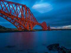 Be Patient Because You Will Be Rewarded (RS400) Tags: edinburgh rail bridge red travel transport scotland wow cool wicked water clouds sku sky olympus stones uk history orange photography landscape