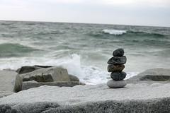 Balance (A_Renee_88) Tags: beach rocks north hampton new hampshire shore coast coastline balancing act zen meditation meditate