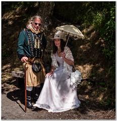 Afternoon strollers (Hugh Stanton) Tags: paracel steampunk dapple stick