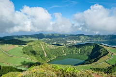 Boca do Inferno Viewpoint (Luca Quadrio) Tags: horizon crater landscape nature water volcano azores volcanic panorama setecidades saomiguel clouds viewpoint view blue atlantic tourism beautiful travel lakes summer island sky green romantic europe portugal mountain pontadelgada azzorre pt