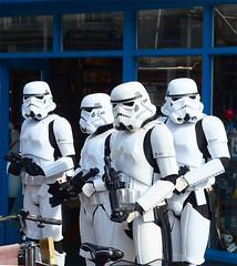 Heavy Security !! (curly42) Tags: reenactors starwars imperialstormtroopers gloucesterretrofestival2018