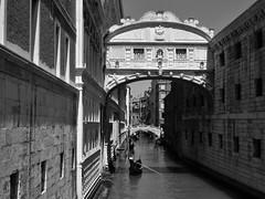 venice 2015 (gerben more) Tags: bridge building canal water venice venetië houses blackwhite monochrome