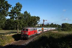 Neustadt(Holst) (Nils Wieske) Tags: schleswigholstein ostholstein vogelfluglinie baureihe 218 v160 db bahn eisenbahn fernverkehr ic intercity zug züge train railway railroad formsignal