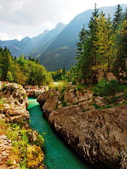 Kal Koritnica - Soča (EmiliaTe) Tags: river slovenia slowenien fluss water nature beauty outdoors alps hiking vacation blue sunshine