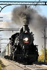 1630 and smoke (Laurence's Pictures) Tags: illinoisrailwaymuseum train rail railroad railway union tourist irm passenger commuter interurban cta steam cae trolley l transit authority things do