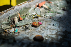 Rusted (LeeDylanLeeDyl) Tags: bottle cap debris glass broken antique ancient old rusted rust rusty crusty crust brown derelict abandoned sunlight sun shine metal nikon nikkor d3300 50mm 18 berlin germany german berliner