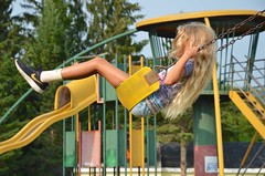 Violet On The Swings (Joe Shlabotnik) Tags: 2018 aroostook violet august2018 justviolet maine playground vanburen afsdxvrzoomnikkor18105mmf3556ged