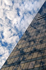 TD Tower and the clouds (Reva G) Tags: vancouver downtown building clouds sky tdtower torontodominiontower georgia granville reflection glass