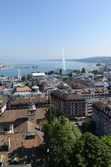 North tower @ Tower observatory @ Cathédrale Saint-Pierre @ Old Town @ Geneva (*_*) Tags: geneva switzerland sunny suisse geneve summer été july 2018 morning europe city oldtown vieilleville stpierrecathedral saintpierre cathedral church christian protestant calvinist calvin tower tour clocher observatory viewpoint pointdevue hauteur height walk