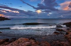 Surreal moments (tinamar789) Tags: colorful color clouds sunset sea seascape seashore stormy waves wave rocks sky evening surreal surrealistic horizon suomenlinna helsinki finland