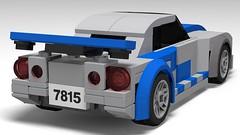 lego Brian's Nissan Skyline R34 (fast and furious) moc (KaijuWorld) Tags: lego moc custom fast furious brian paul walker nissan skyline r34 ldd