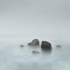 Rock Study 1 (www.neilburnell.com) Tags: longexposure abstract minimal minimalism colour muted sea seascape rocks ocean