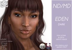 Eden skin display pic-dark (Alea Lamont) Tags: ndmd ethnic skins black female woman african afro american women catwa bento vista head