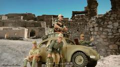 I Love My VW! (WesternOutlaw) Tags: afrikakorps dak afrikakorpsdiorama kingcountry kingandcountry toysoldiers 130 130scale ratpatrol rommel erwinrommel worldwarii vw vwbeetle beetle volkwagen