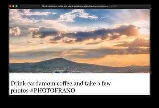 BLOG: Drink cardamom coffee and take a few photos #PHOTOFRANO