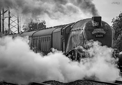 60009 Union of South Africa (deltic17) Tags: steam steamtrain excursion charter train special blackwhite smoke hitory historic ecml eastcoastmainline vintage 60009 a4 pacific unionofsouthafrica canon canon5dmk3 canonraw photography rail railway