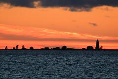 Sunset silhouette (Lena_CS) Tags: sky sea finland seascape autumn silhouette sunset