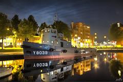 City harbour Den Helder (7) (pe0s, Steven) Tags: denhelder haven harbour willemsoord hdr nacht night schip boot