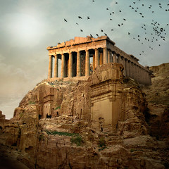 Parthenon in the ruins of Petra (jaci XIII) Tags: cidade templo ruína grécia jordania city ruin temple greece jordan
