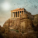 Parthenon in the ruins of Petra