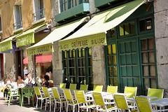 The Teashop (Grenoble, France) (Haytham M.) Tags: tour visit spring france grenoble teashop shop service chairs tables street tea