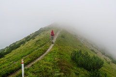 Vranica mountain, Bosnia and Herzegovina (HimzoIsić) Tags: landscape mountain mountainside path ridge trail hiking mountaineering grassland grass plant conifer fog mist trekking poeple hill outdoor nature