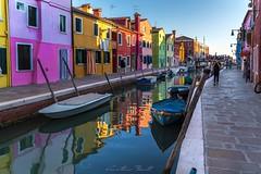 Burano Island (Venice lagoon) (Cristiano Busato) Tags: burano island venice venezia colore colorato acqua canale cielo barche ormeggi italy veneto regioneveneto europe venicelagoon