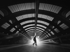 ...passenger... (*ines_maria) Tags: flickrheroes railway station architecture building business central centrale city departing empty europe european high indoor inside interior italia italian italy lombardia main milan milano passenger people platform public railroad roof train transport transportation travel urban view silhouette blackandwhite monochrome panasonicdcgh5 gh5